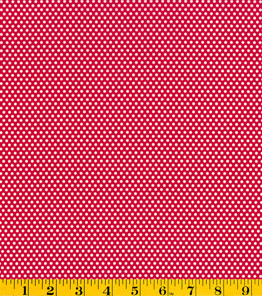 Premium Cotton Fabric-Mia Dots Red