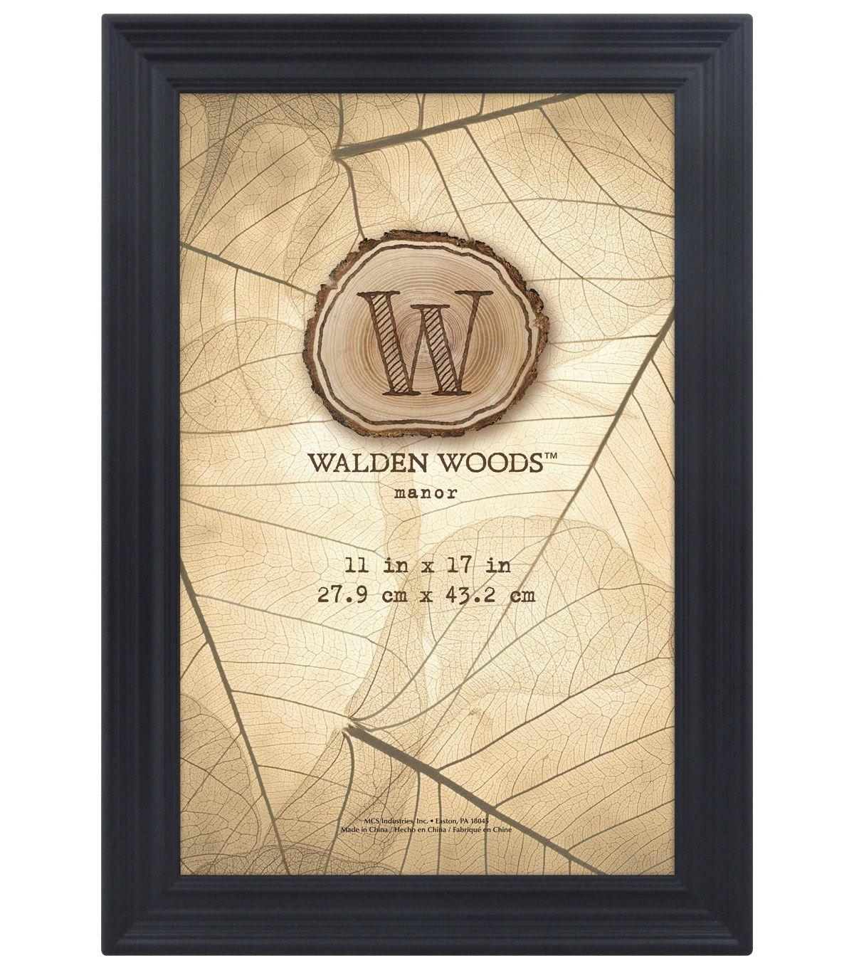 Walden Woods Wall Frame 11X17-Black
