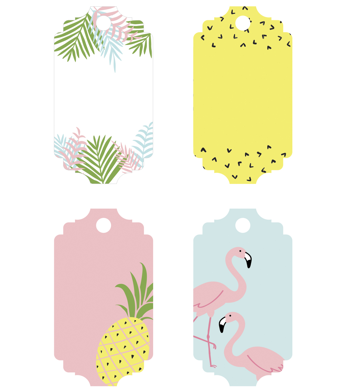 Park Lane Paperie 28 pk Tear off Tags-Tropical