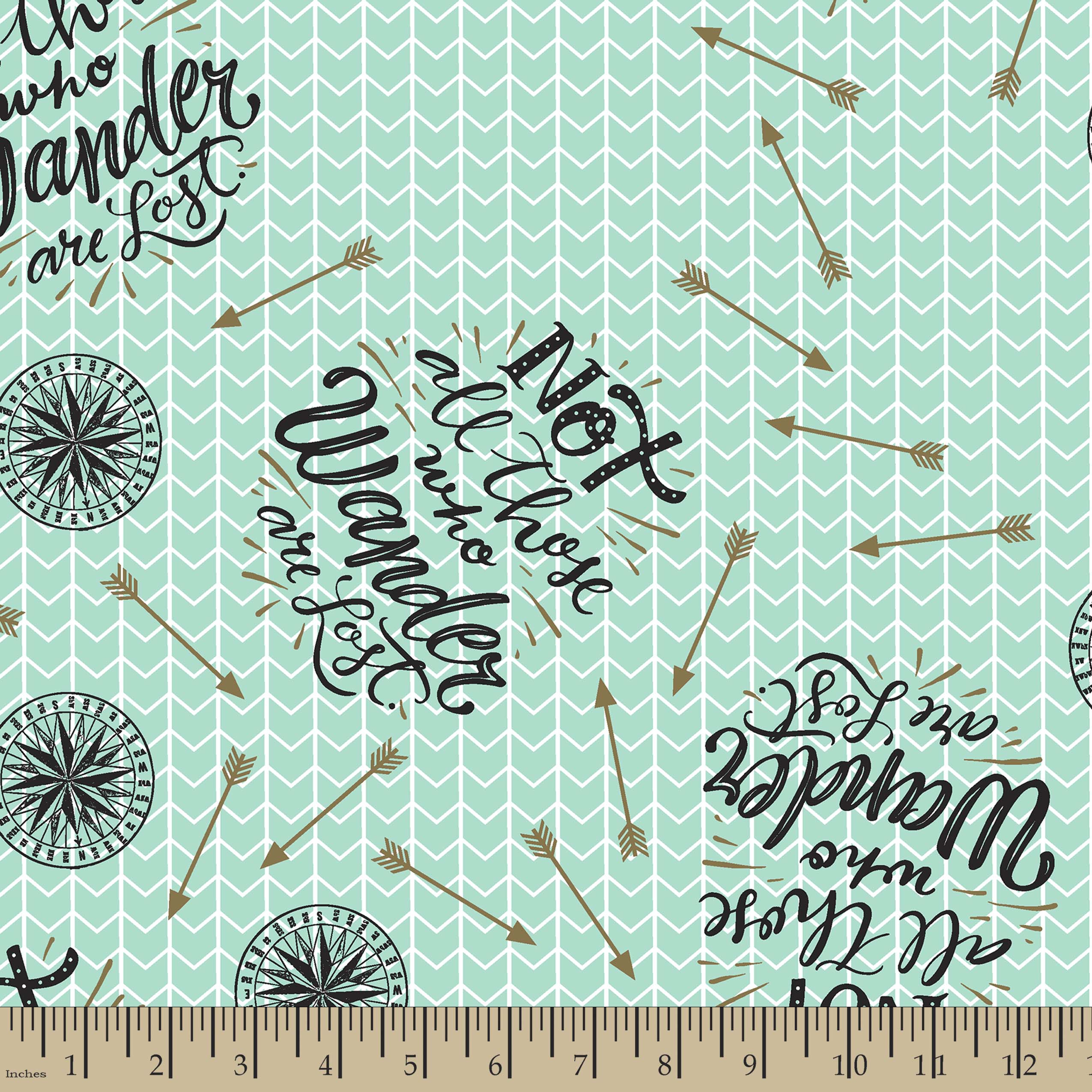 Not All Who Wander Are Lost Print Fabric Joann