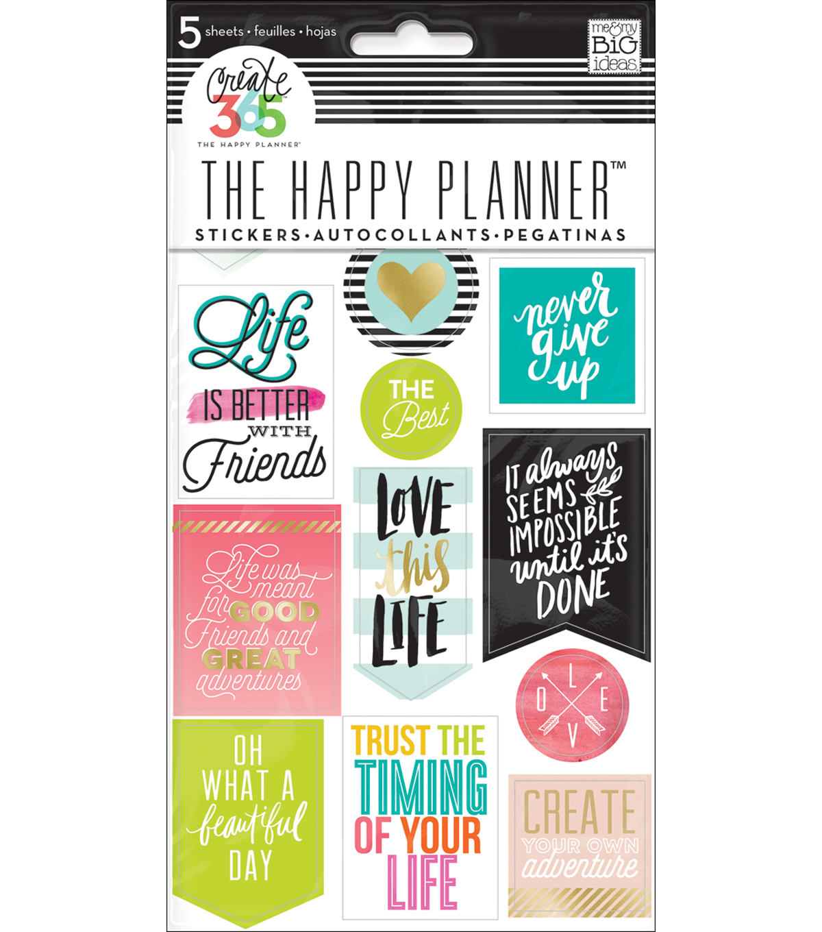 The Happy Planner Stickers-Life Quotes