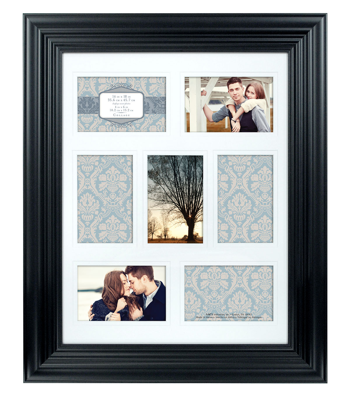 Melody Collage Wall Frame 14X18-Black