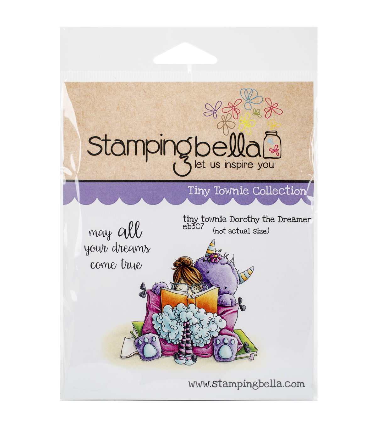 Stamping Bella Cling Rubber Stamp-Tiny Townie Dorothy The Dreamer