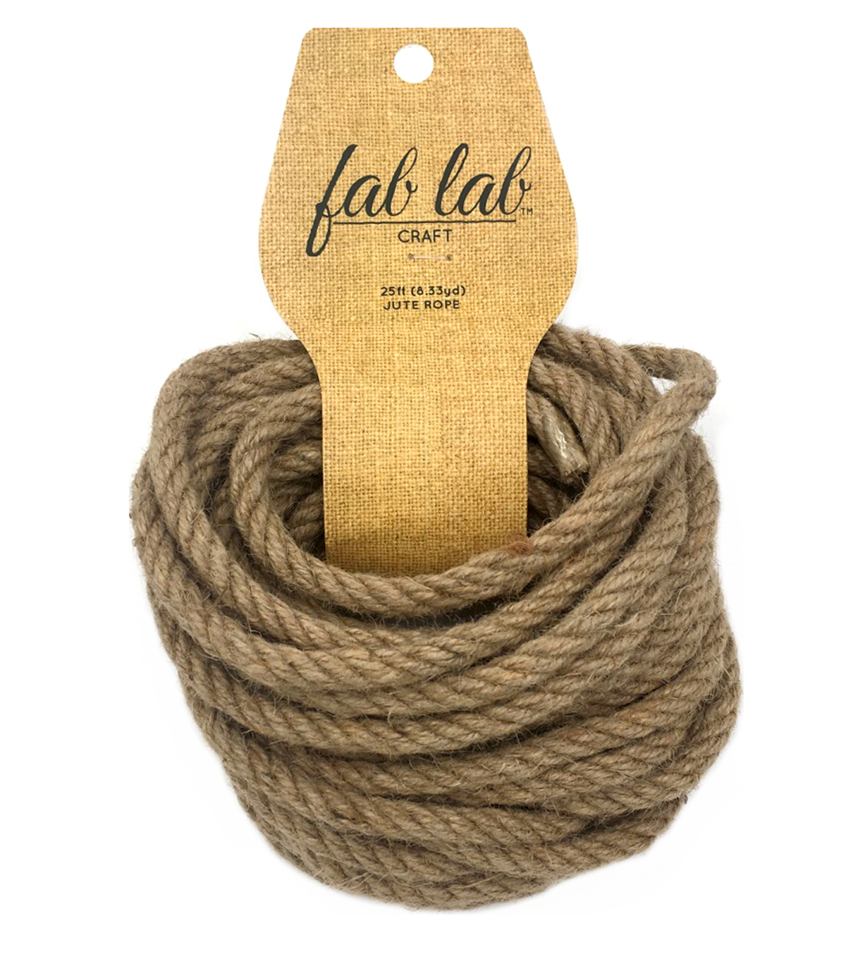 Fab Lab 1/4 in x 25 ft Jute Craft Rope