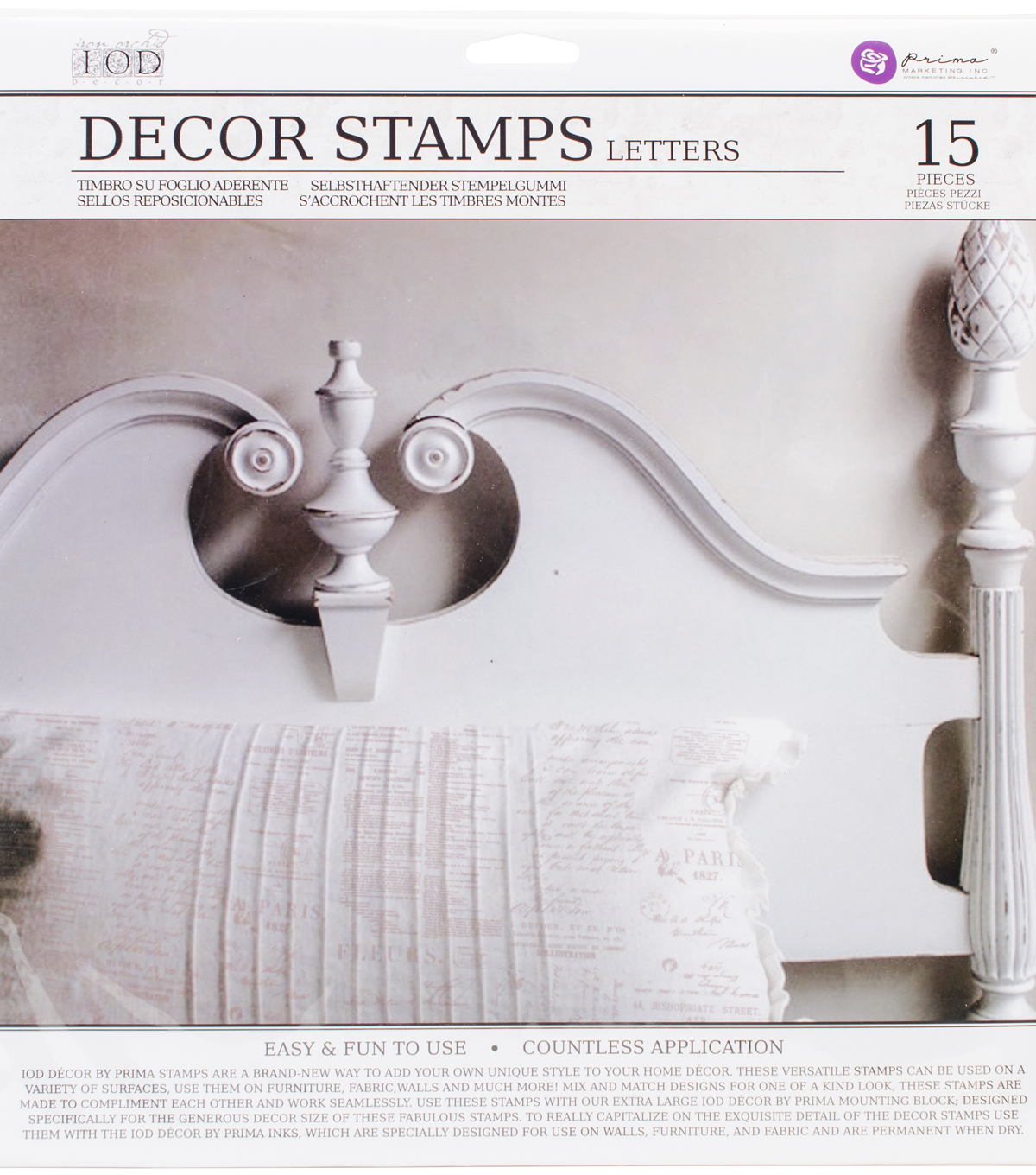 Iron Orchid Designs Decor Clear Stamps 12\u0022X12\u0022-Letters