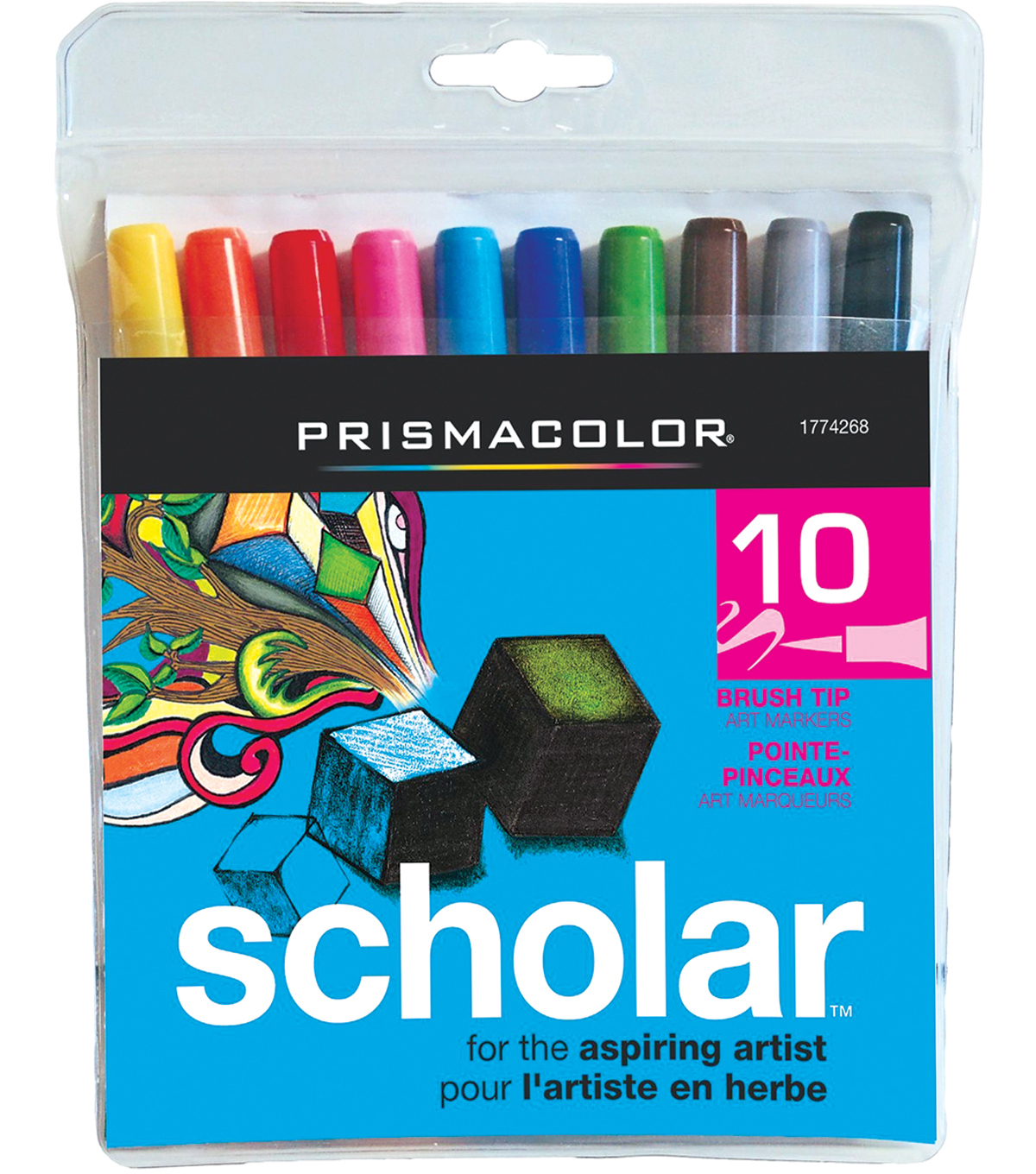 Prismacolor Scholar Brush Marker 10/Pk-