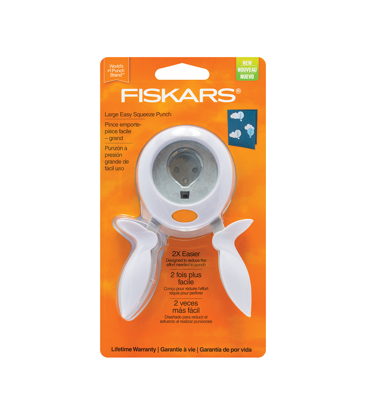 Fiskars Large Squeeze Punch-Hot Air Balloon