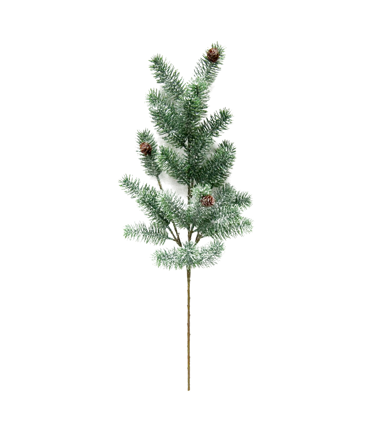 Blooming Holiday Christmas 18\u0027\u0027 Frosted Blue Spruce & Pinecone Spray