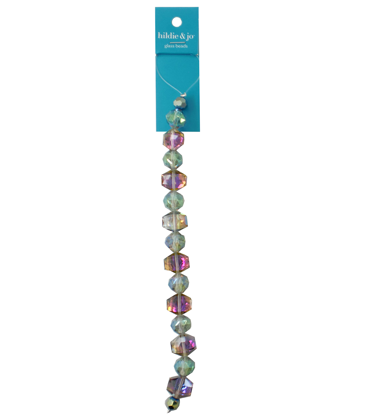 hildie & jo 7\u0027\u0027 Glass Beads Strand-Iridescent Blue