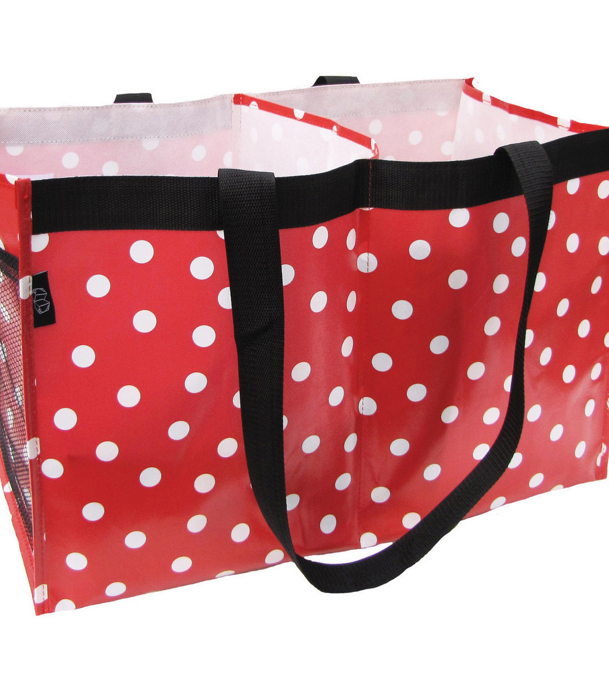 Two Lumps of Sugar Trunkey TLOS Trunk Tote-White Polka Dots on Red