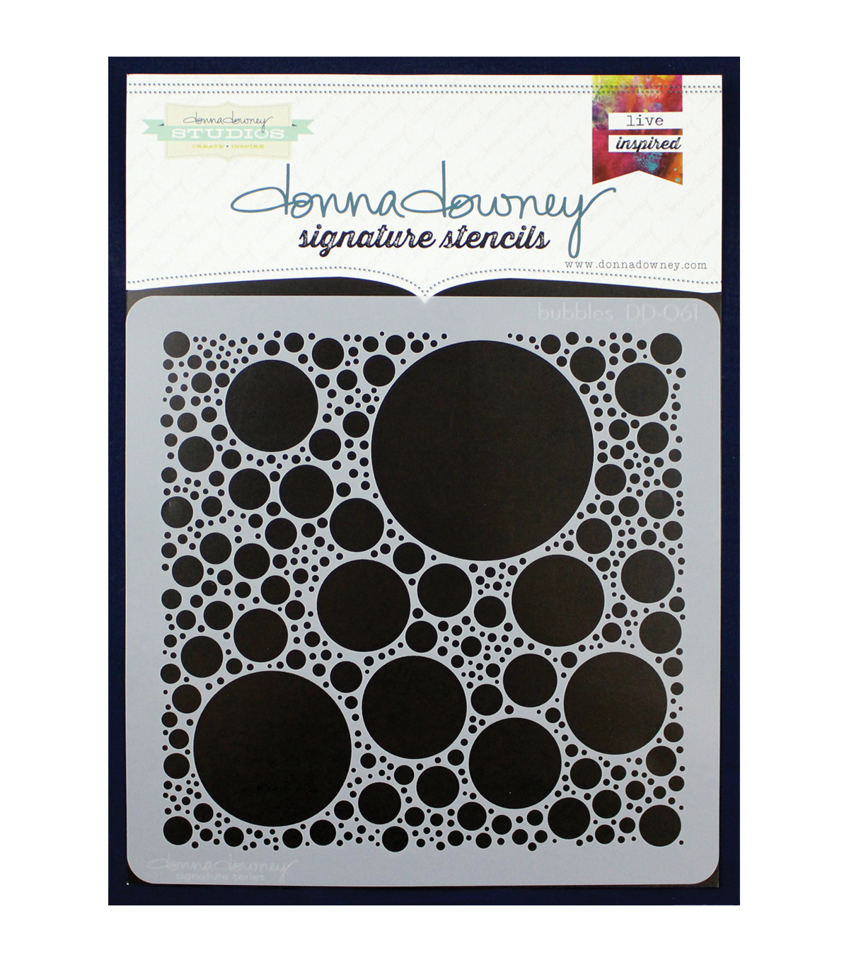 Donna Downey Signature 8\u0027\u0027x8\u0027\u0027 Stencil-Bubbles
