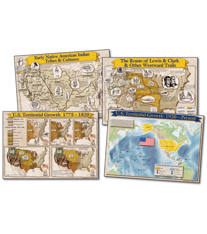 Carson-Dellosa Historical Maps of the United States Bulletin Board Set