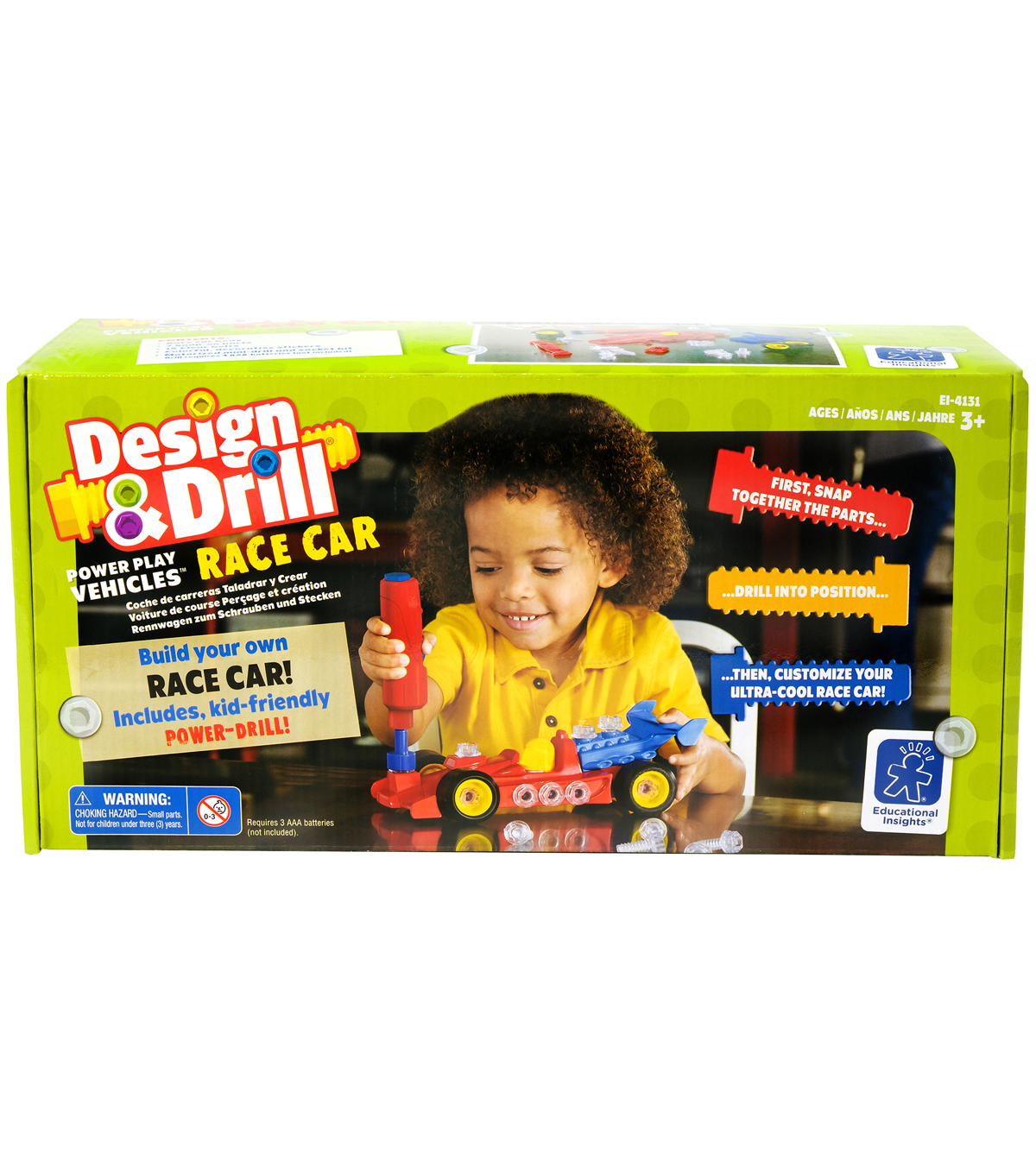 Design & Drill Power Play Vehicles Race Car