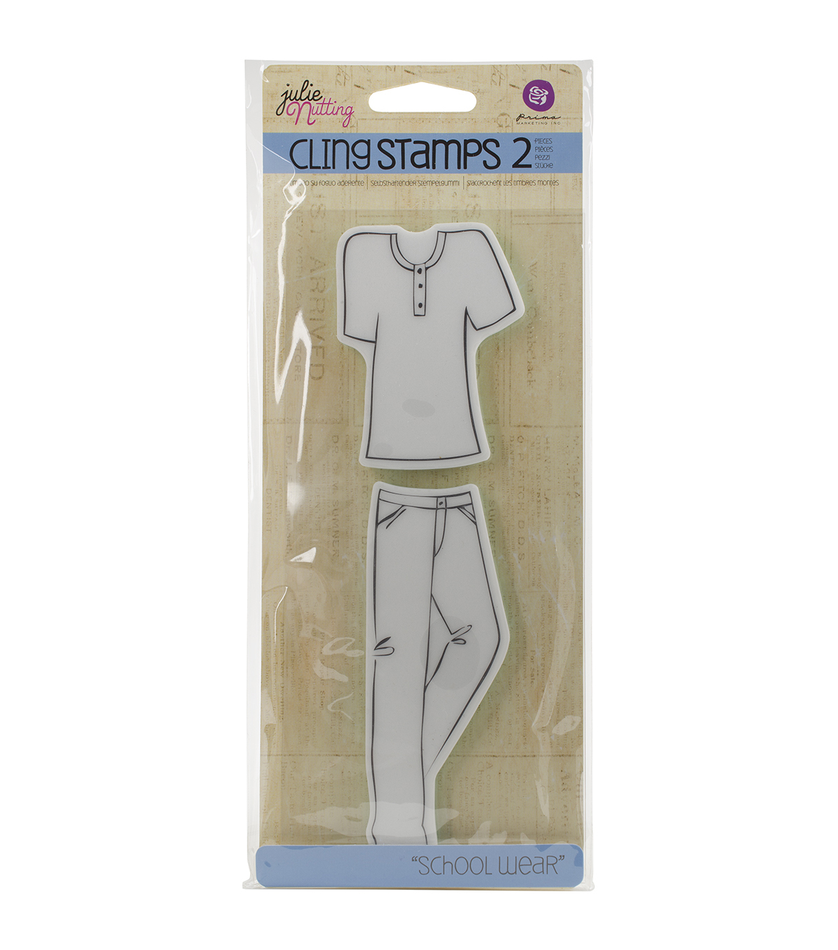 Prima Marketing Julie Nutting Cling Stamps-School Wear Accessories
