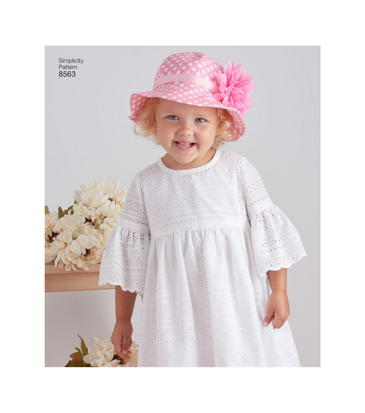 2864e39fa3b Simplicity Pattern 8563 Toddlers  Dresses   Hat-Size A (1 2-1-2-3-4 ...