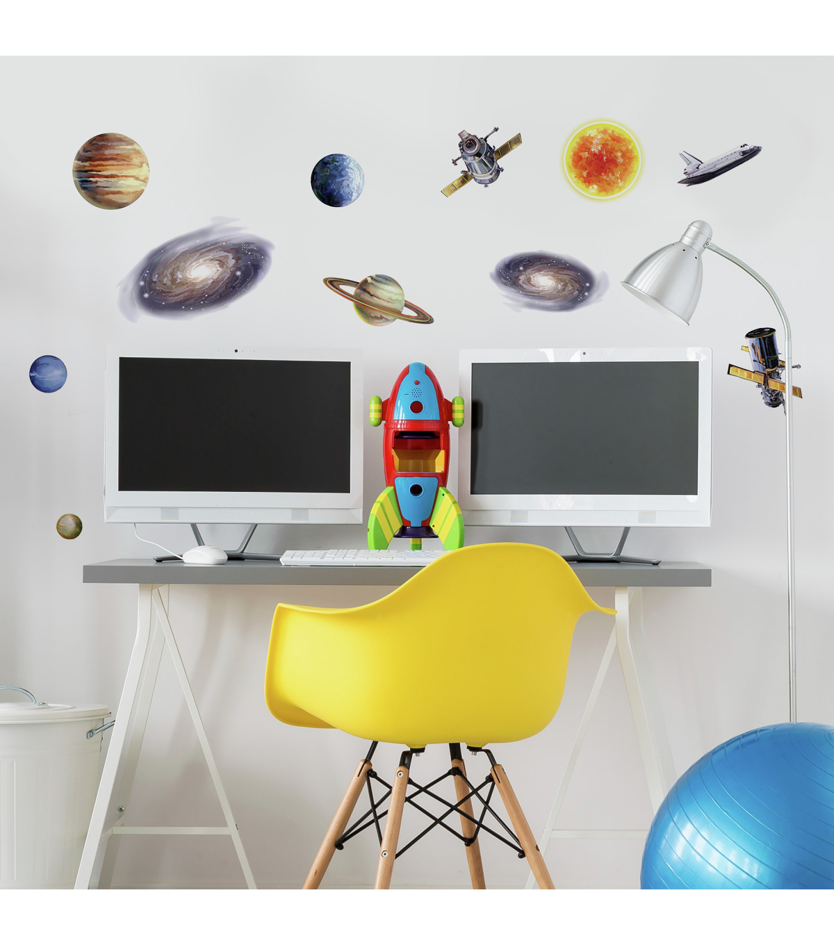 York Wallcoverings Peel & Stick Wall Decals-Space Travel