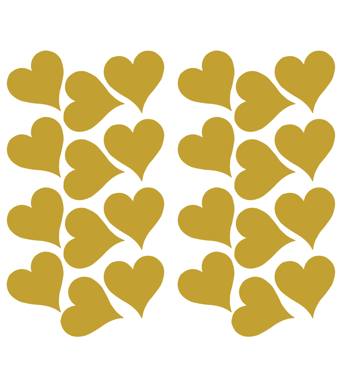 York Wallcoverings Wall Decals-Gold Heart