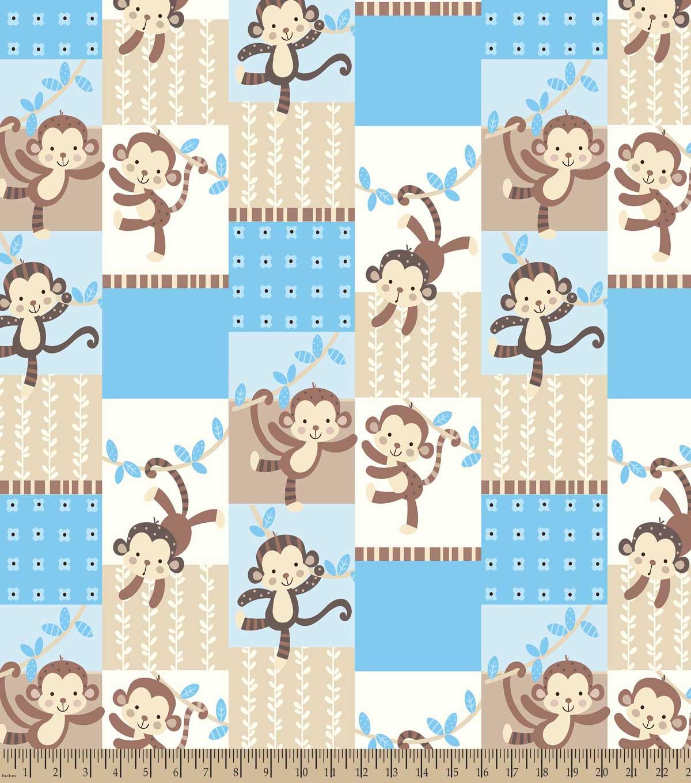 Baby Monkey Print Fabric