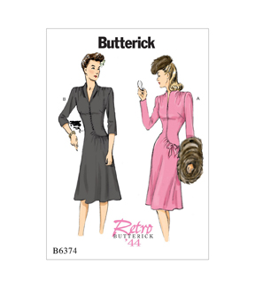 Butterick Pattern B6374 Misses\u0027 Swan-Neck or Collar Dresses-Size 14-22