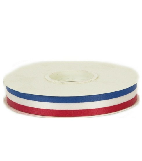 Offray Red, White & Blue Stripe Ribbon 50 Yds-5/8\u0022