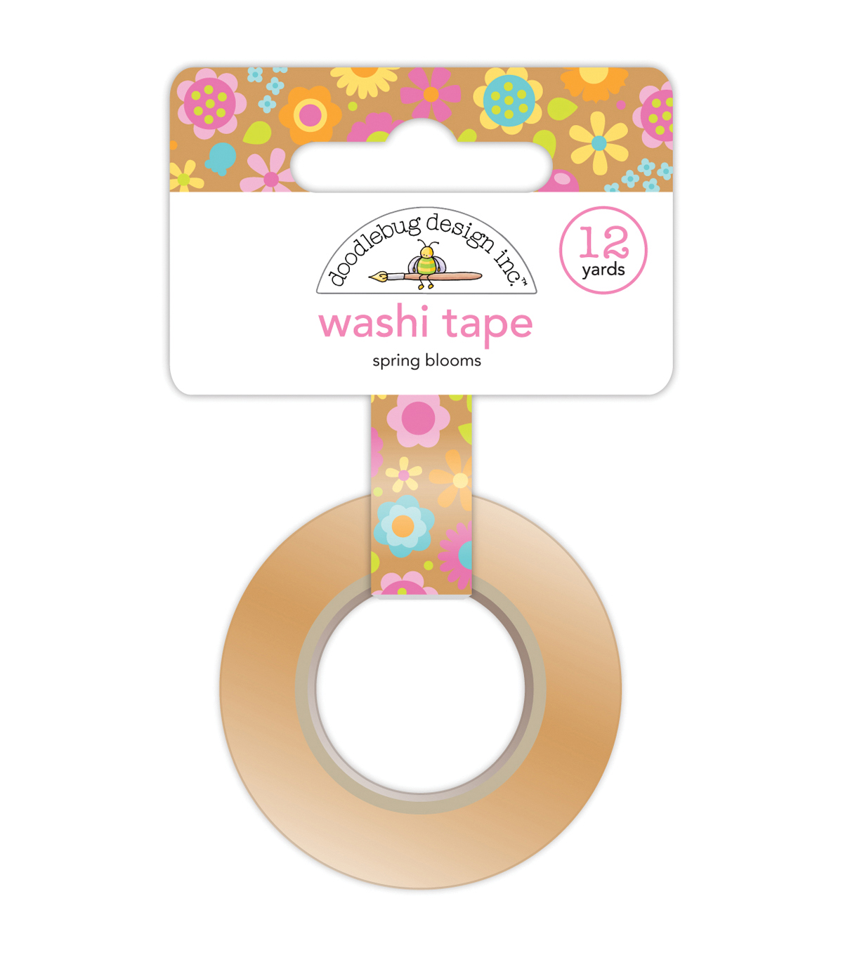 Washi Tape 15mmX12yd-Spring Blooms