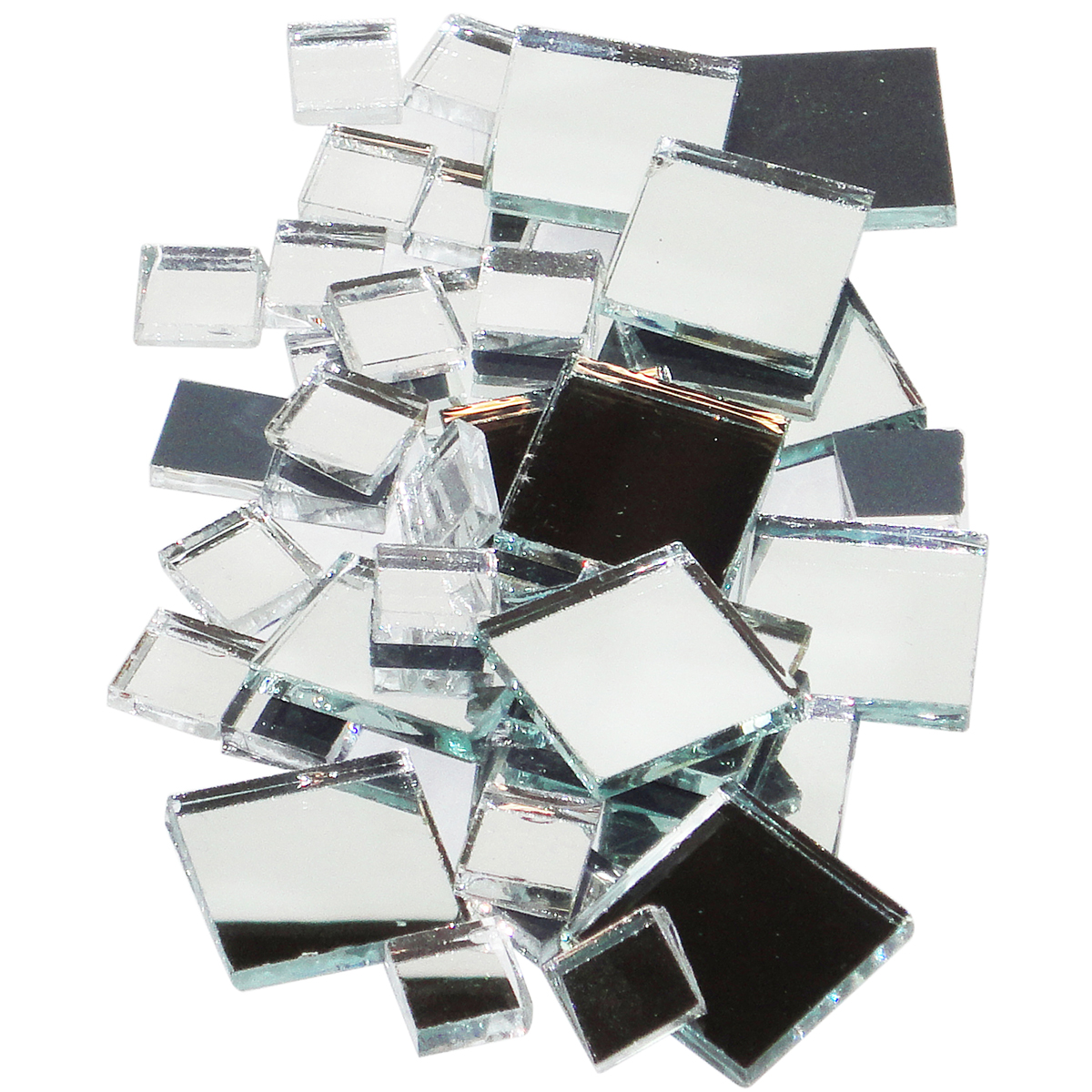 Mosaic Mercantile Mirrored Glass Tile Square Assorted