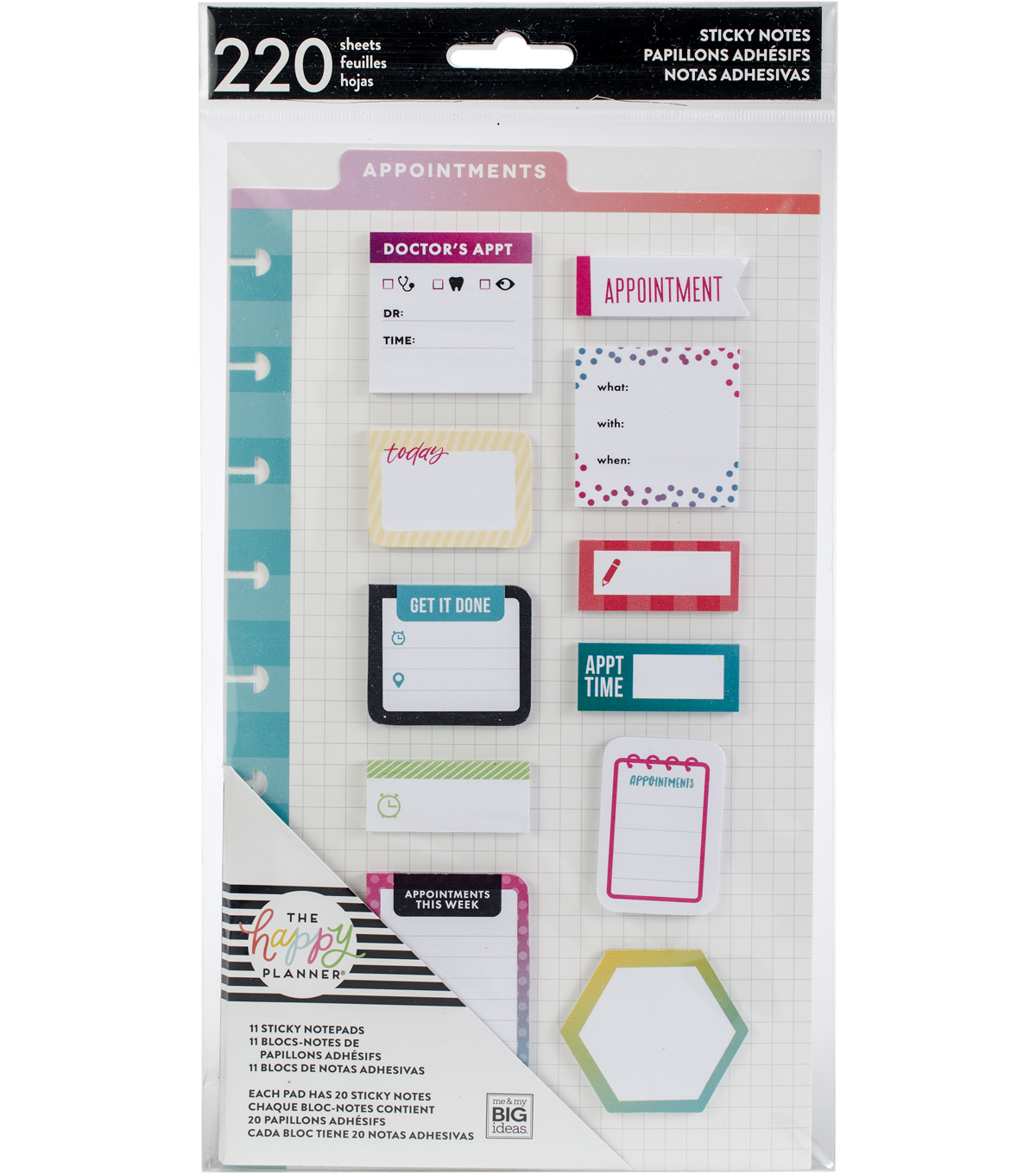 The Happy Planner 220-sheets Classic Sticky Notes-Appointments