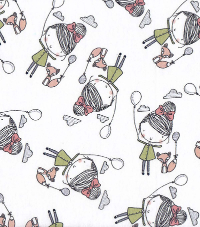 Snuggle Flannel Fabric -Balloon Friends