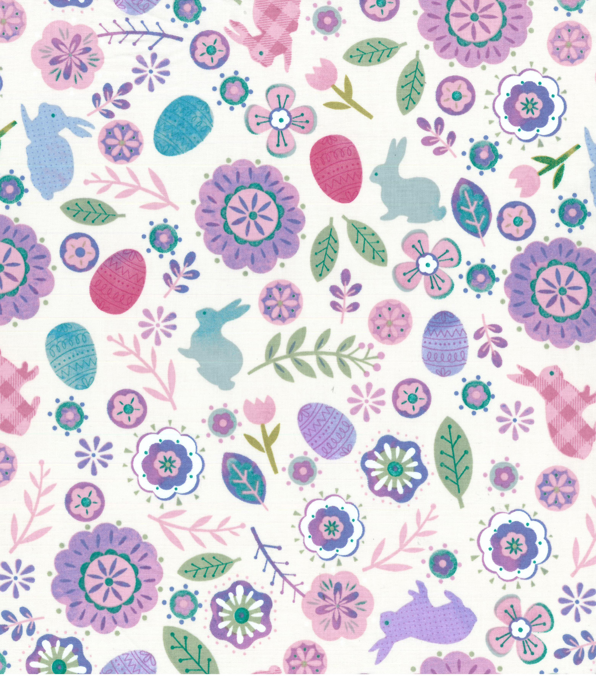 Easter Cotton Fabric-Mixed Theme Floral & Bunny