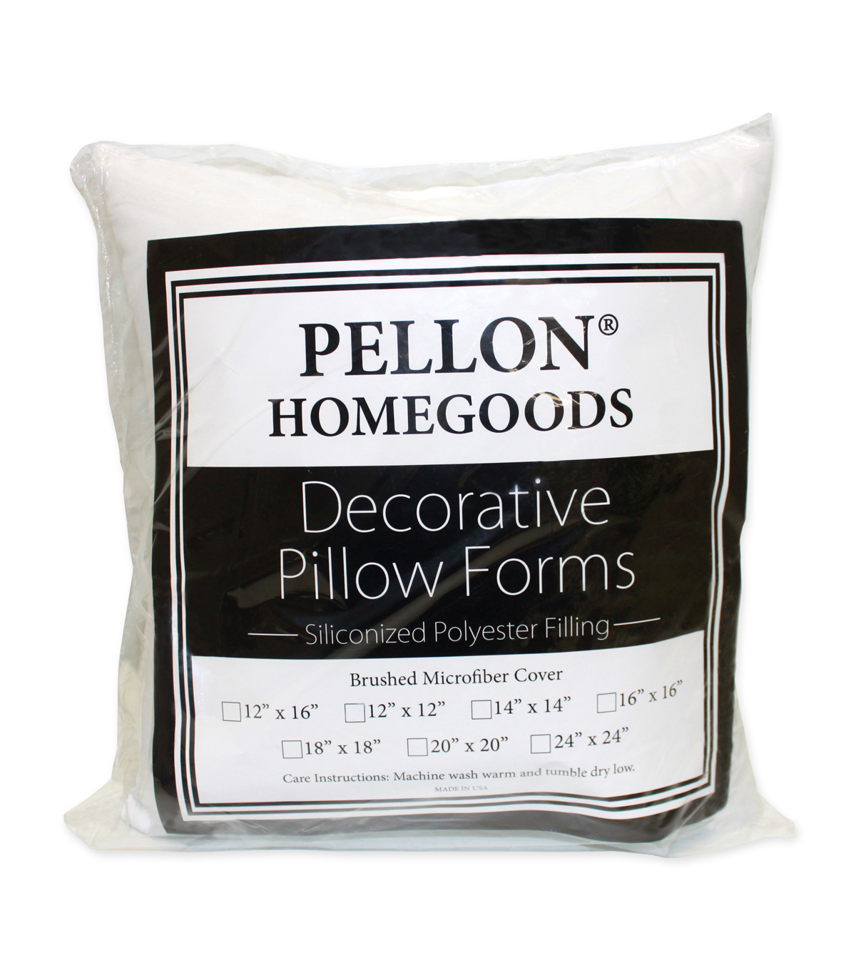 Pellon Decorative 12\u0022 x 12\u0022 Microfiber Pillow Form, 12\u0022 X 12\u0022 Single Pillow