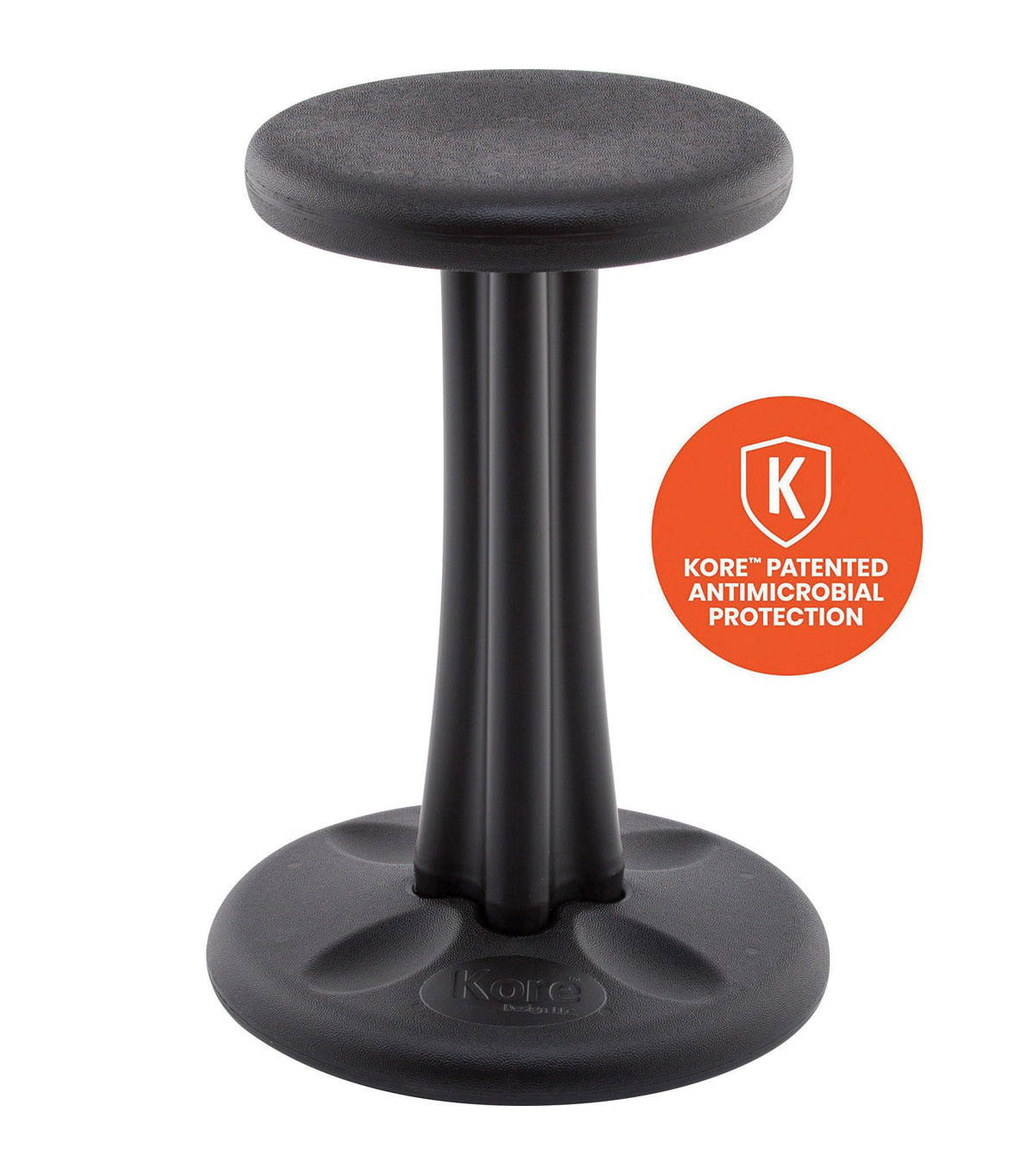 Kore Pre-Teen Wobble Chair, 18.7\u0022, Black