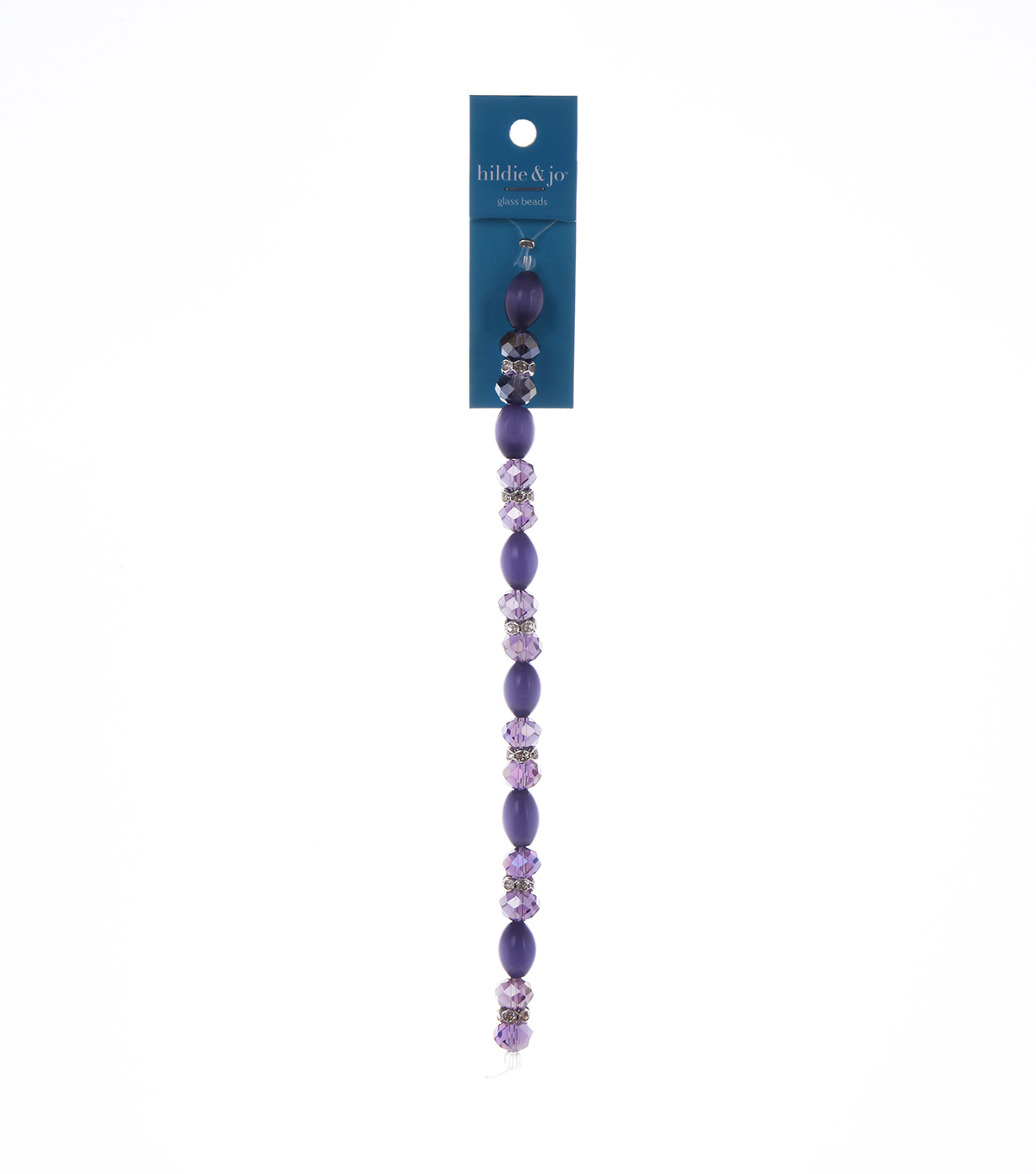Blue Moon Beads 7\u0022 Crystal Strand, Cat\u0027s Eye with Metal Spacers, Purple