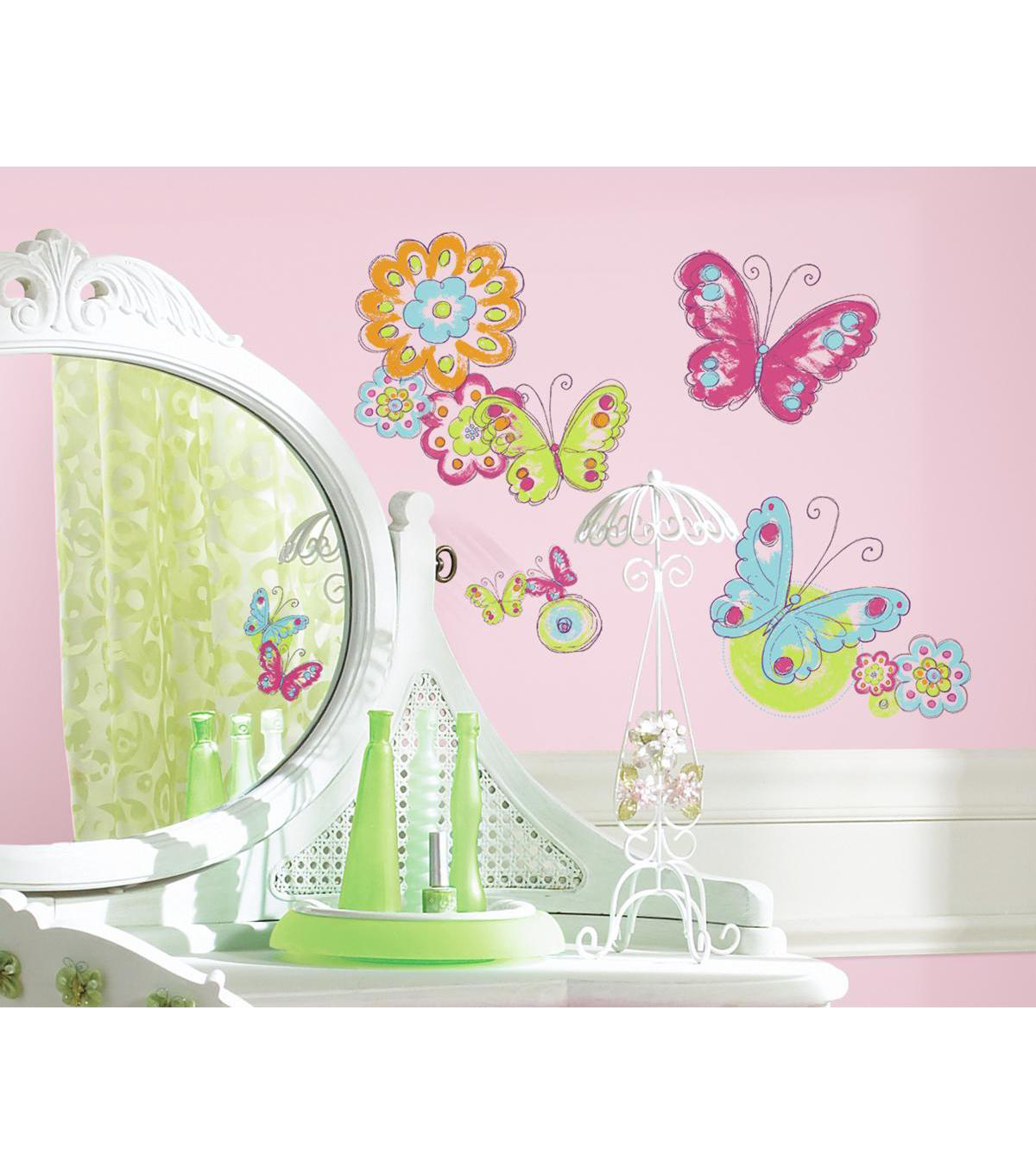 York Wallcoverings Wall Decals-Brushwork Butterfly