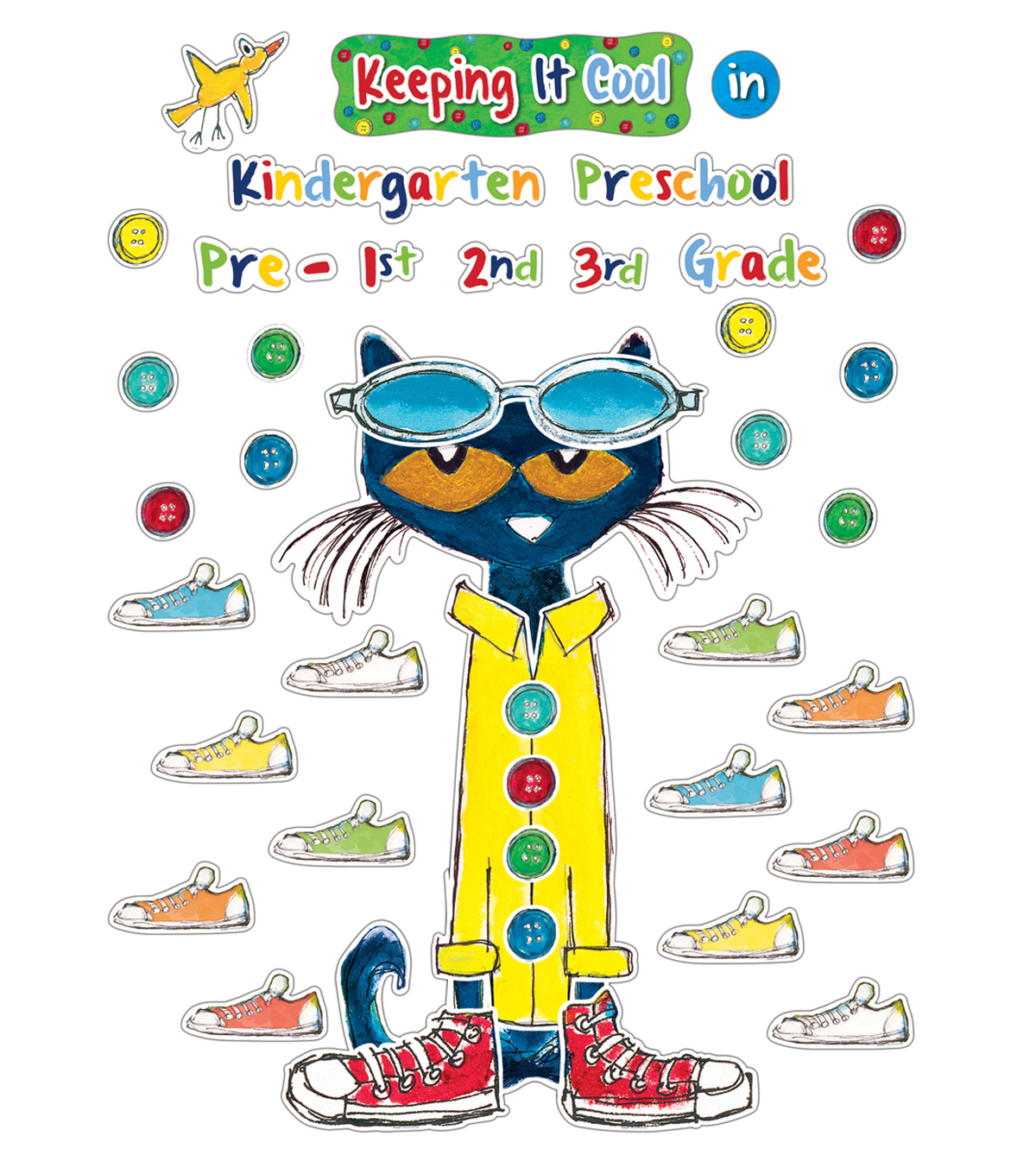 Pete the Cat Keeping It Cool In...Bulletin Board Set