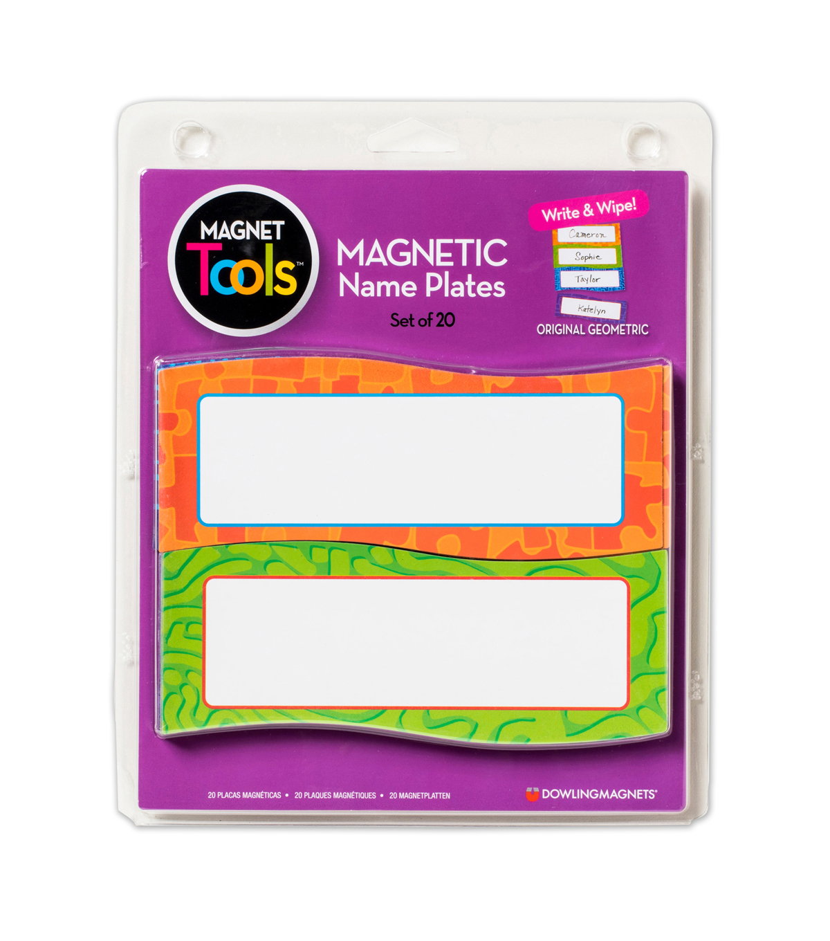 Dowling Magnets Magnetic Name Plates 20 Per Pk, 2 pks