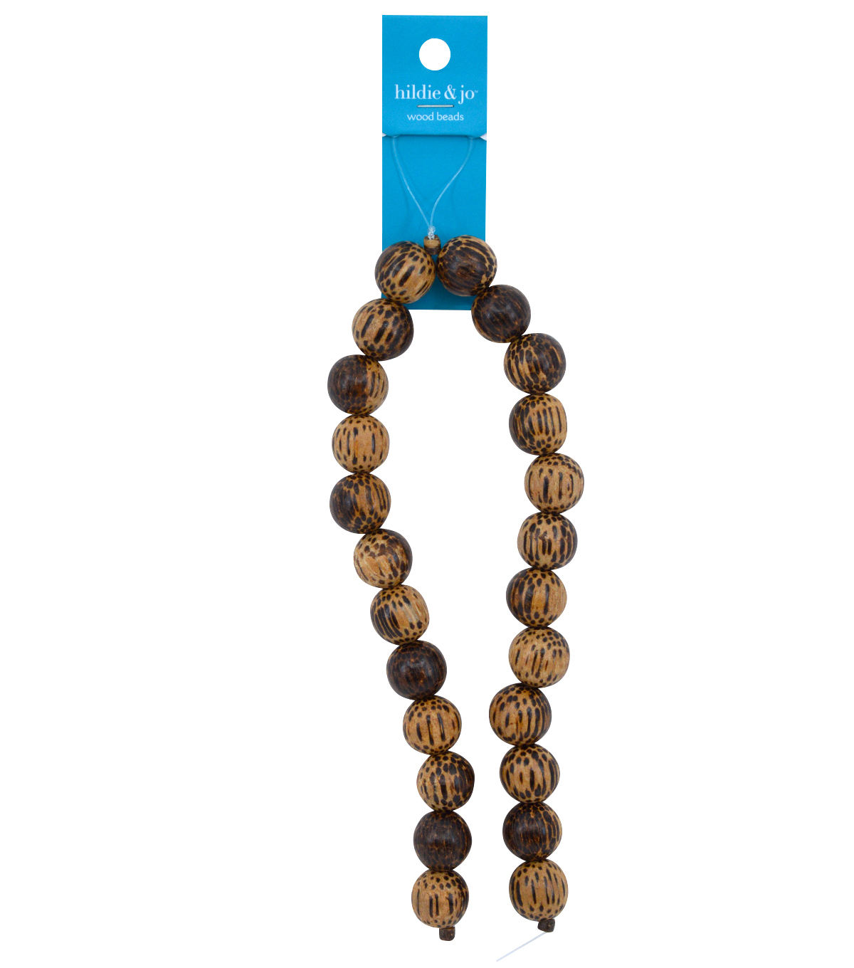 Blue Moon Strung Coco Wood Beads,Round,Brown w/Black