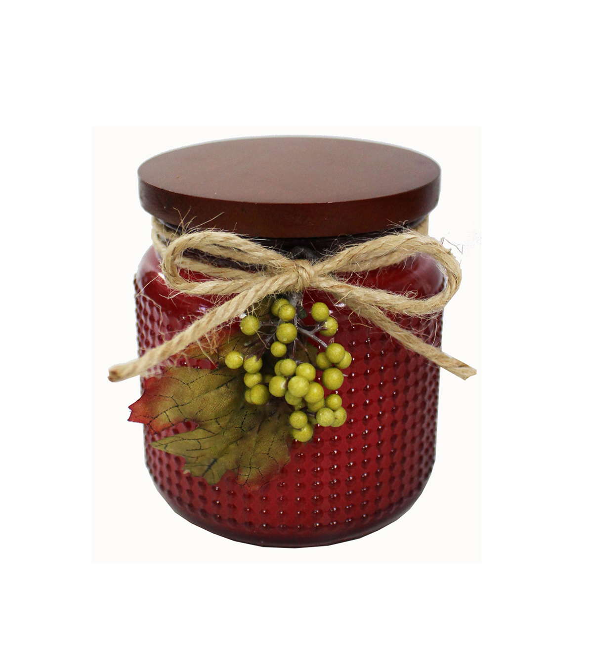 Simply Autumn 4\u0027\u0027x4.25\u0027\u0027 Scented Glass Jar Candle-Burgundy