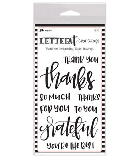 Ranger's Letter It Clear Stamps Set-Thank You