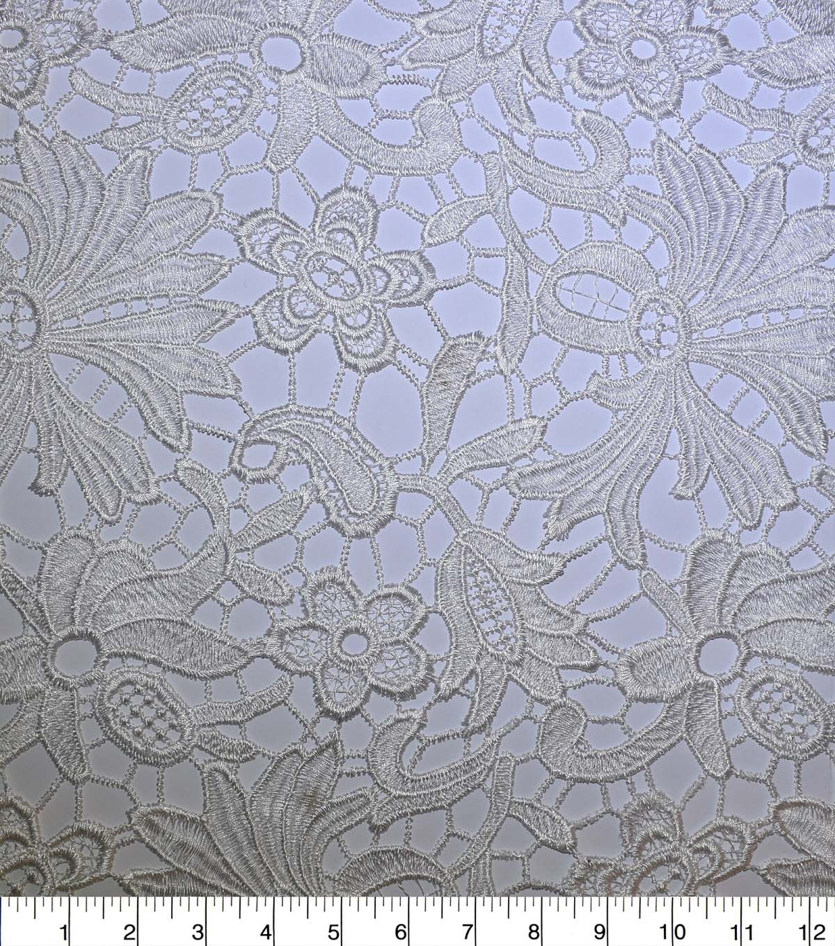 Gianna All Over Heavy Embroidered Lace Fabric 52\u0027\u0027
