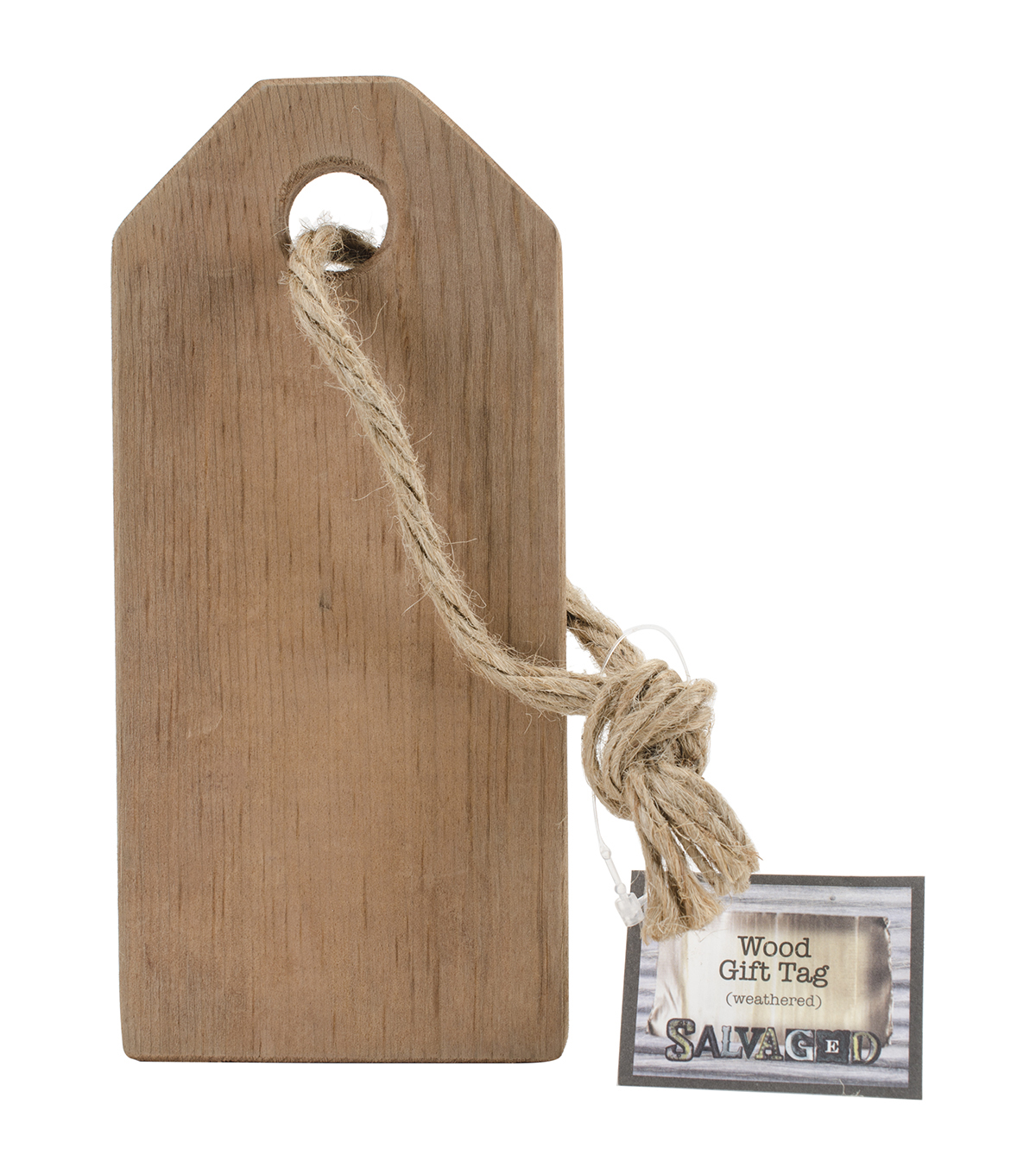 Salvaged Wood Weathered Wood Gift Tag 7\u0027\u0027x3\u0027\u0027x0.5\u0027\u0027