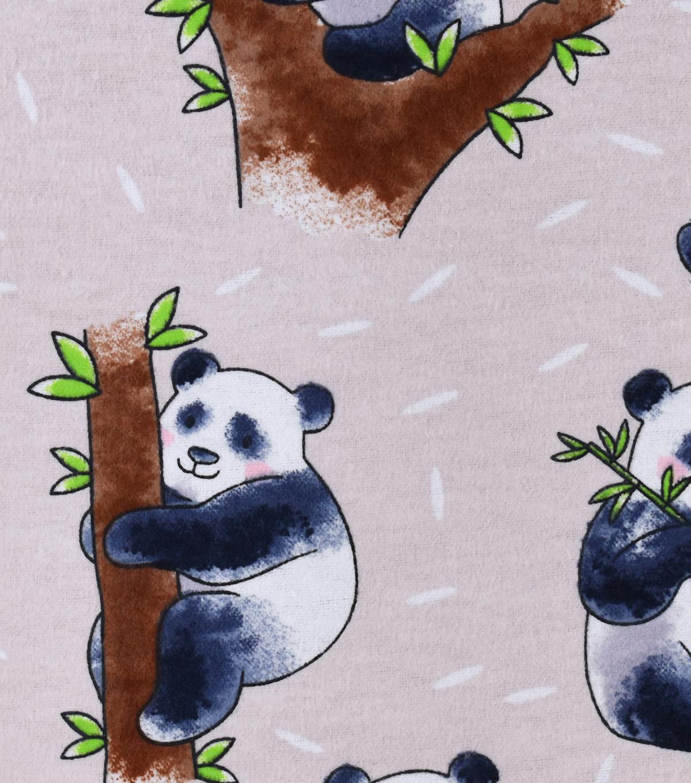 Snuggle Flannel Fabric 42\'\'-Huggable Pandas | JOANN
