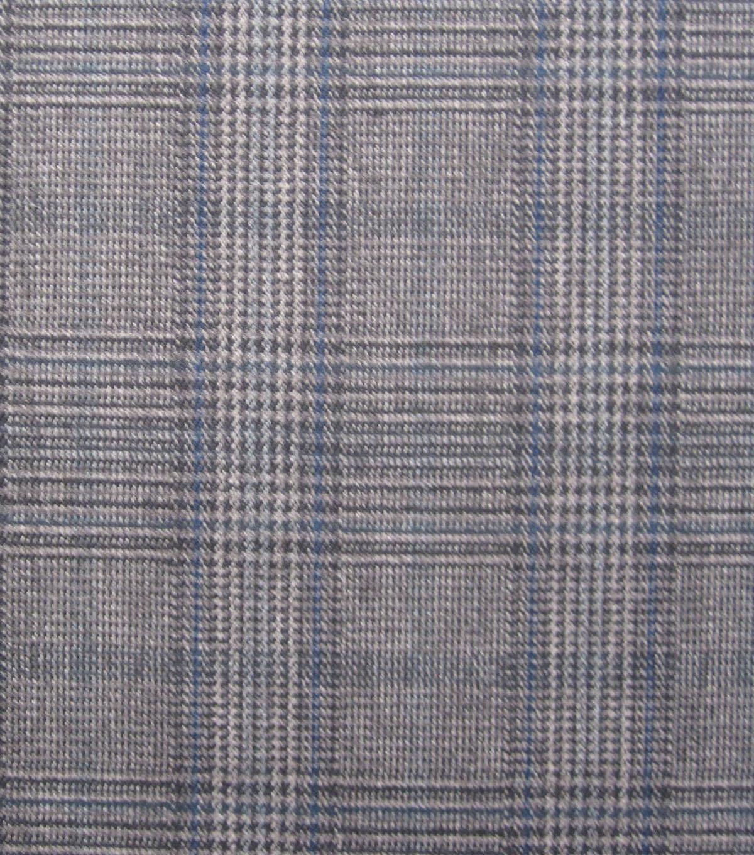 Fashion Suiting- Suit Plaid Gray Blue Fabric | JOANN