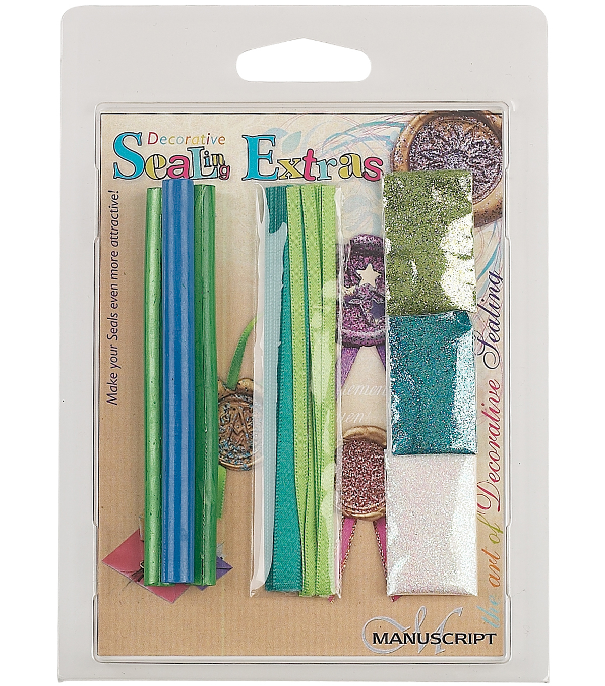 Manuscript Decorative Sealing Extras-Blue/Green