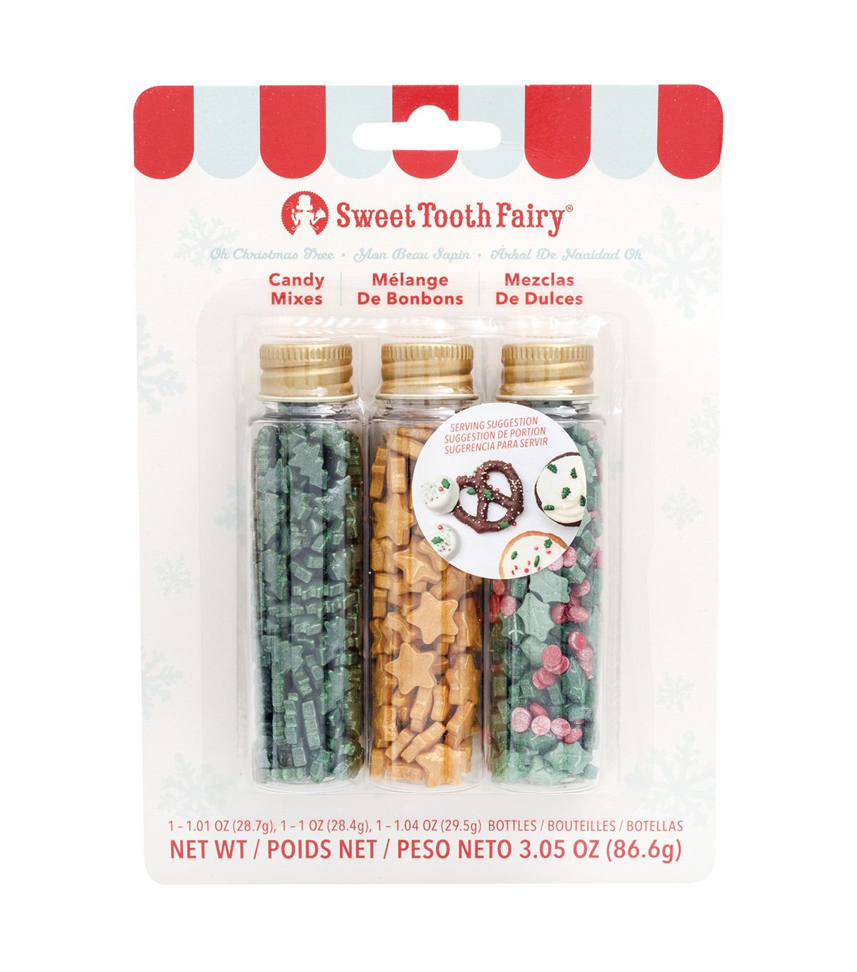 The Sweet Tooth Fairy Christmas 3 pk Candy Mixes-Oh Christmas Tree