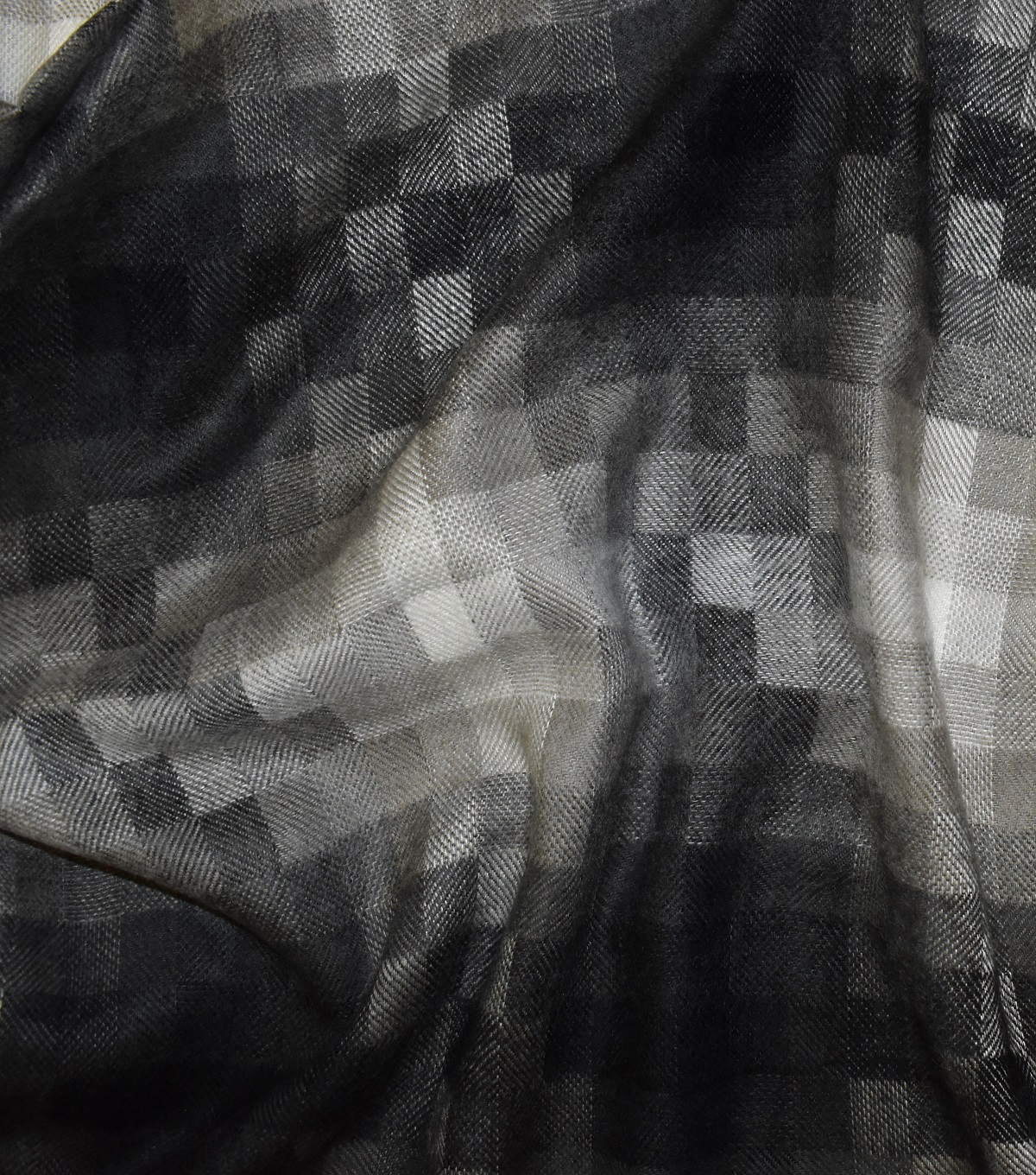 Perfectly Plaid Acrylic Fabric -Grey Pixel