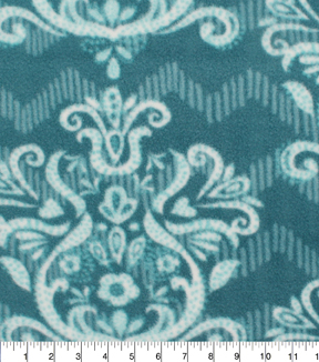 Anti-Pill Fleece Fabric 61\u0022-Marrakesh Floral Chevron