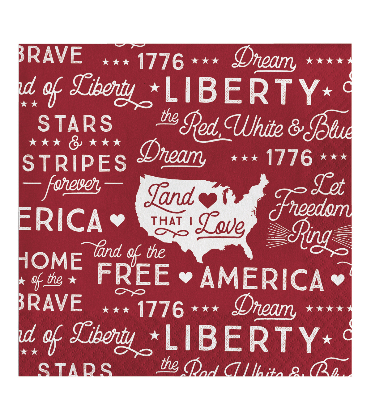 Land of the Free 20 pk 5''x5'' Dinner Napkins