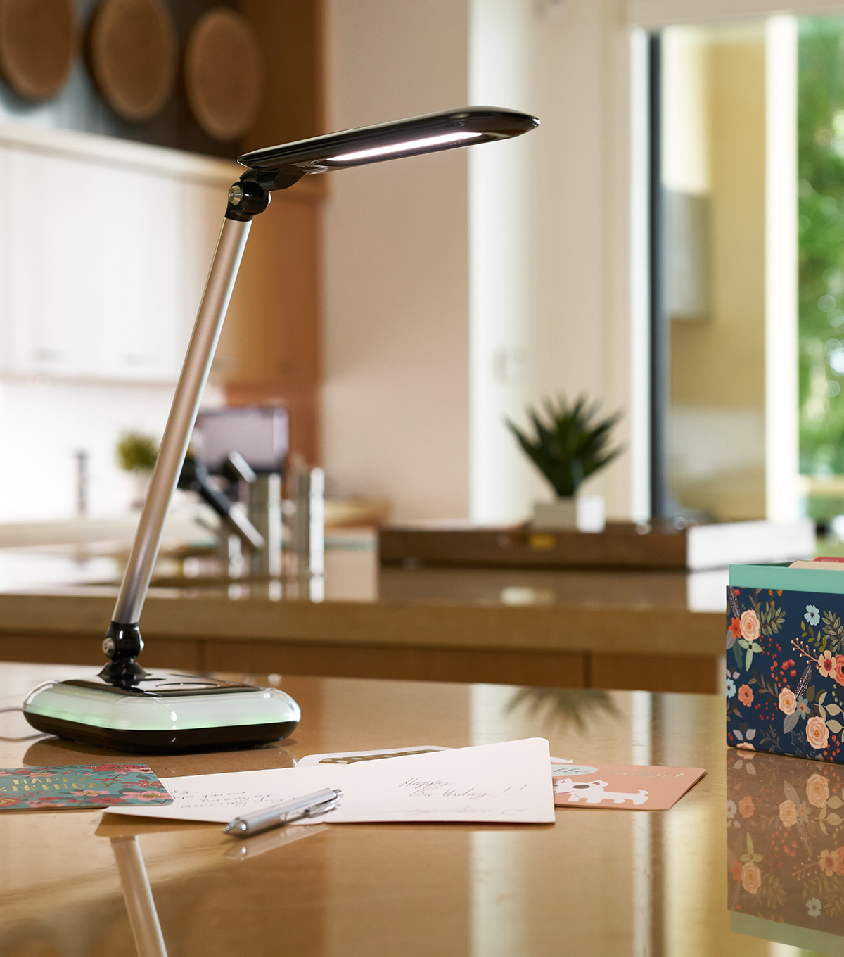 OttLite Wellness Glow LED Desk Lamp with Color Changing Base