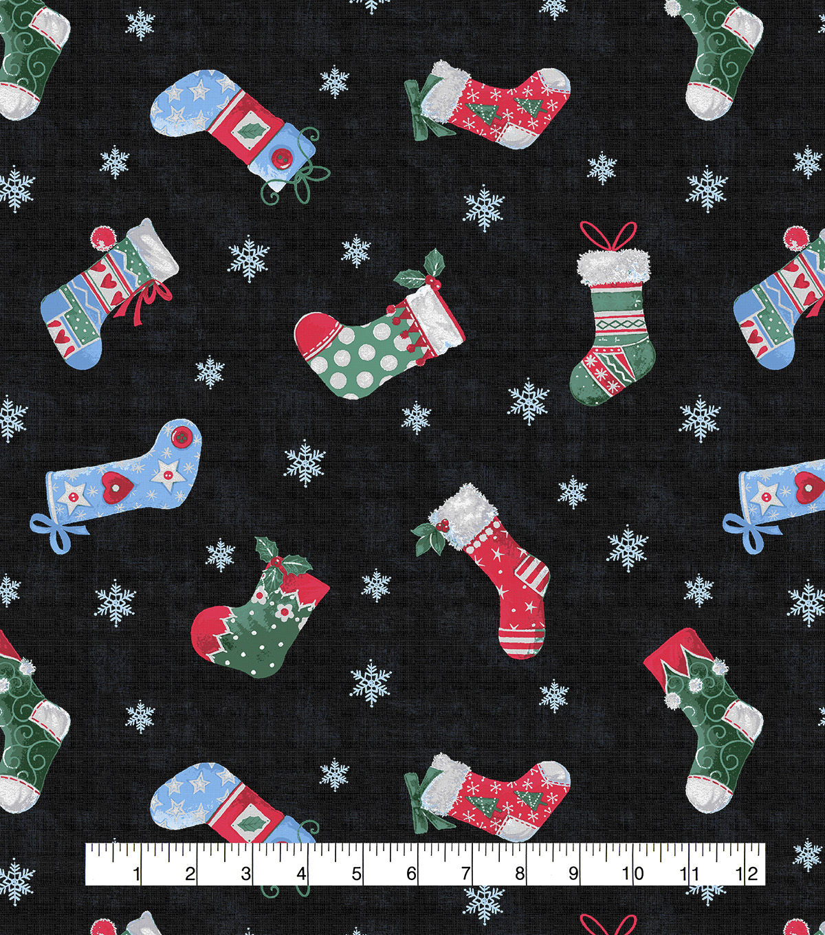 Christmas Cotton Fabric-Winter Mittens & Stockings