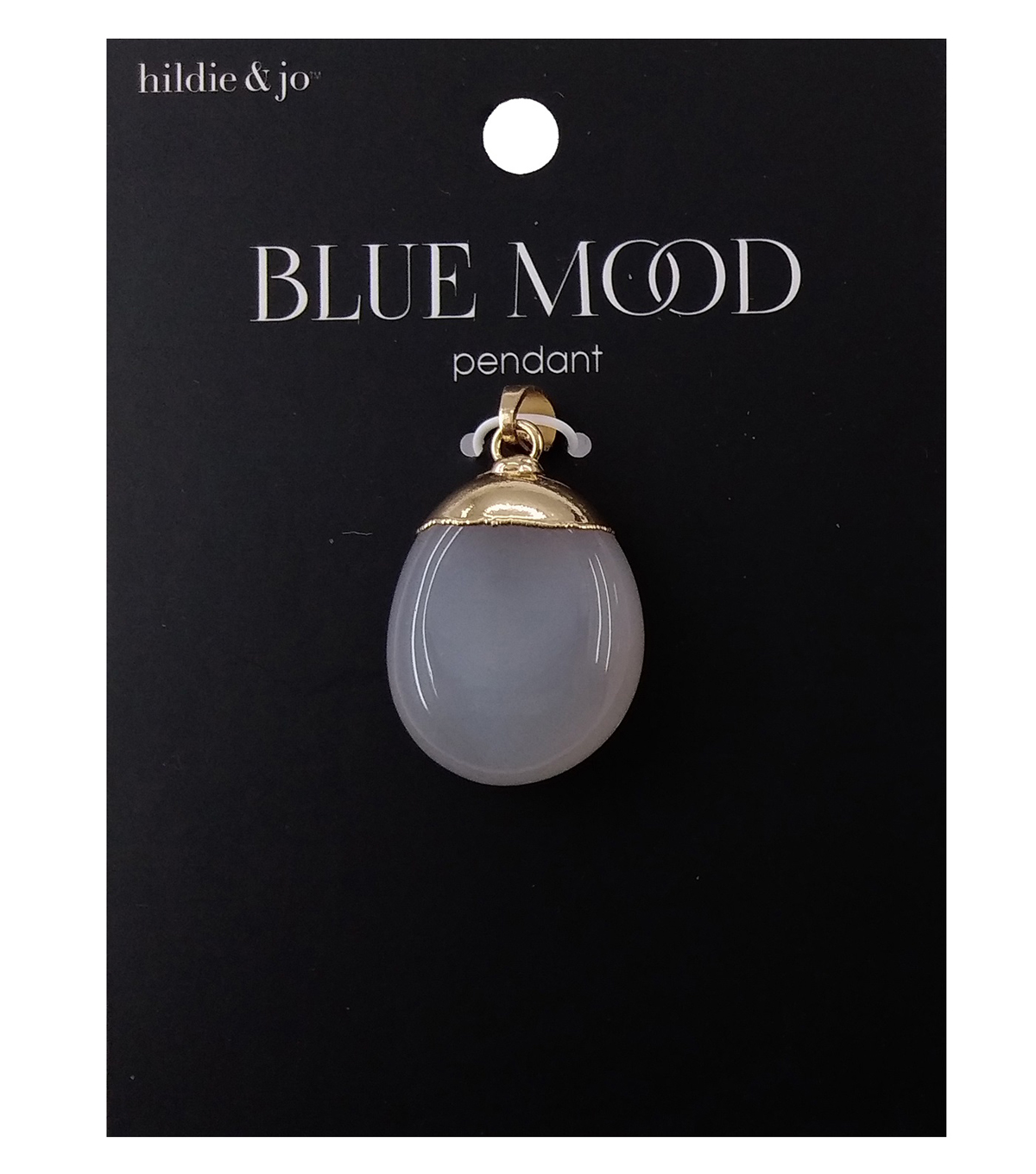 hildie & jo Blue Mood Pendant-2Pc Grey And Lapis Stones